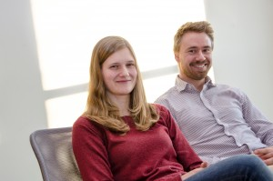 Angelica Löfberg and Christo Dordlofva are two of eight innovation Ph.D. students within the RIT project.